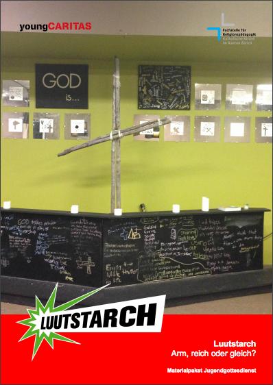 """Cover der Broschüre """"Materialpaket Jugendgottesdienst"""""""